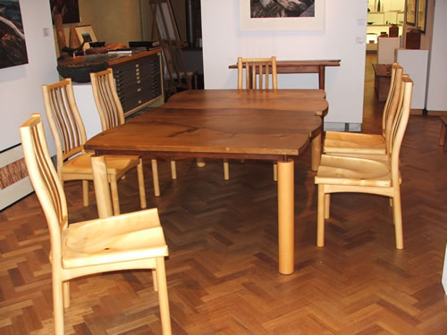 Myrtle Table and Huon Pine Chairs